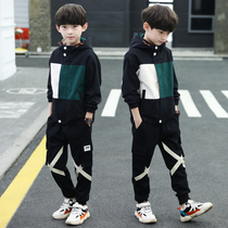 Children's clothing boys autumn suit 2020 new autumn and winter boy outdoor 8-13 year old sports two-piece