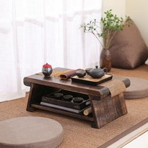 Japanese-style wooden tatami small floating window table balcony low table folding home Kang Table Tea Table Table Tea Table