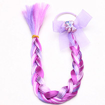 Frozen My Little Pony baby wig headdress bow long tail ribbon hair accessories hair rope long braid