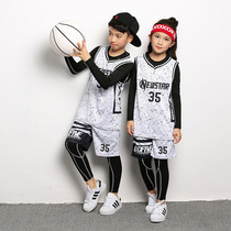 Childrens basketball Suits Suits boys training jerseys kindergarten pupils quick-drying tights four-piece costumes