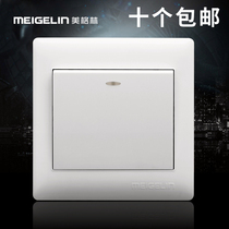 86 type concealed wall switch socket panel 1 open a single open single control unit switch ivory white