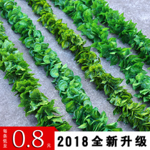 Simulation grape leaves artificial flowers vines vines plastic green radish leaves green leaves sewer decorative ceiling