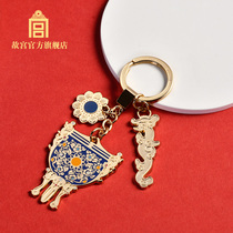 National Palace Museum gold permanent ornaments key buckle bag hanging key chain pendant the Palace Museum official flagship store