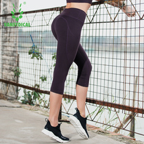 Fitness pants female stretch pants summer gym running quick-drying yoga pants high waist was thin pants