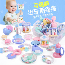 Baby toy hand rattles 0-3-6-12 months baby teether 1 year old 2 boys and girls newborn children puzzle gift box