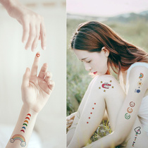 雅 ya tattoo stickers waterproof female lasting semi-permanent 1 year ins wind net red with a small fresh pattern