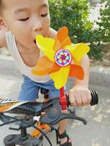 Childrens Windmill toy bicycle tricycle Decoration buggy Outdoor rotating color Cartoon Windmill Accessories