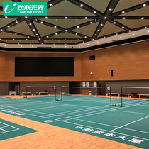 Dynamic linkage unbounded badminton to rubber pad indoor arena unit whole piece rolling portable professional badminton field glue