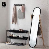 umbra solid wood full-length mirror European-style floor mirror simple bedroom home dressing mirror clothing store fitting mirror