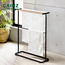 Japan CAINZ child towel rack mini bay window drying rack heating home floor small stainless steel hanger