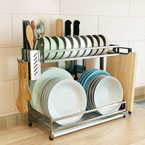 Kitchen put Bowl rack drain rack 304 stainless steel household sink dry dishes dishes dishes storage racks