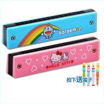 Can blow the Horn children teaching materials with mouth organ toy mini harmonica children kindergarten infant male