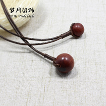 Years left ornaments original handmade retro wood beads long-born necklace couple neck chain simple temperament small fresh.