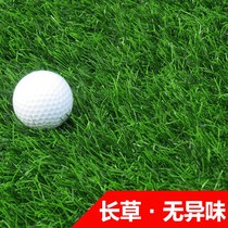 Golf turf long grass anti-real lawn carpet horticultural decorative cutting rod with grass carpet outdoor