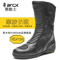 arcx elegant motorcycle riding boots male waterproof high state motorcycle shoes racing off-road winter rally equipment