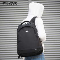 Double shoulder Bag male Korean version Tide computer Bag college students high school students school bag leisure travel backpack fashion