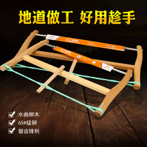 Traditional box saw household manual sliding saw multi-functional old-fashioned woodworking saws tools small saw saws bow pull flower saw