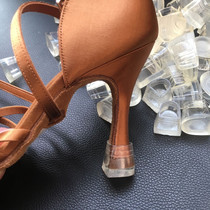 King dance Latin dance shoes special heel cover transparent heel non-slip wear mute heel protective cover
