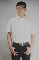 Tooling short Sleeve Shirt A group company custom tooling white short sleeve Shirt