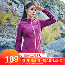 Camel outdoor fleece autumn and winter warm fleece jacket ladies sports jacket comfortable cardigan shirt female