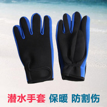 With magic sticker snorkeling diving Gloves warm waterproof mother anti-skid anti-cut waterproof mother winter swimming Gloves