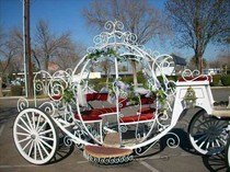 European Tour pumpkin princess Scenic Area Royal Hotel exhibition Club wedding can Electric carriage