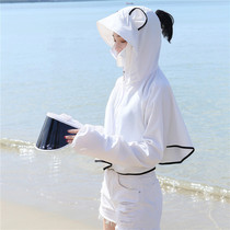 Summer lens brim sunscreen shawl female hooded mask one outdoor cycling UV breathable sunscreen