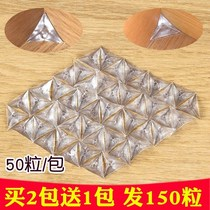 Kitchen economy Cabinet dustproof Crystal Corner anti-dirty corner transparent wardrobe triangle cover stickers corner home