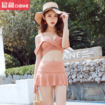 c77930f02f Swimsuit female 2019 new sexy small chest gather was thin sexy Korean hot  spring small fragrance