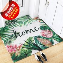Nordic wind wire ring mat can be cropped into the door a foot pad entry carpet diy non-slip earth door mat.