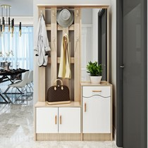 Coat cabinet door Cabinet hanging clothes rack shoe cabinet one combination with mirror entrance multi-functional entrance partition for shoe stool
