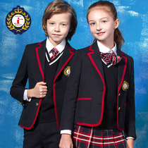 Boys and girls costumes suits suits dress host England handsome kindergarten primary and secondary school uniforms autumn