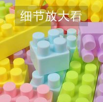 Childrens building blocks toys large particles large 1-23-6 years old plastic blocks spell plug Assembly puzzle girl boy