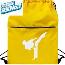 Childrens adult Taekwondo backpacking bag loose martial arts bag boxing gloves pack sports fitness.