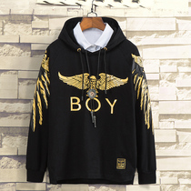 boy hooded sweater men london flagship autumn trend long-sleeved eagle coat female London Classic boys