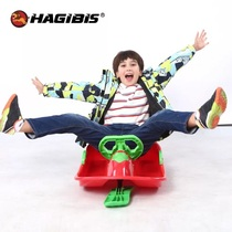 Adult childrens skis have rudder steering wheel ski belt brake veneer sled car Ice truck Plow