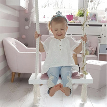 INS childrens swing hanging chair childrens toy cotton rope swing childrens room home decoration hanging chair