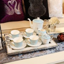 Neoclassical European home model room decorations coffee cup set British afternoon tea tray decoration