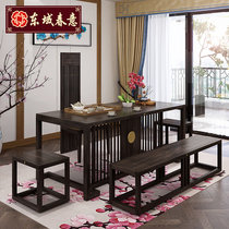Dongyu Chunyi new Chinese all solid wood tea table Zen antique tea table tea room kung fu solid wood tea table