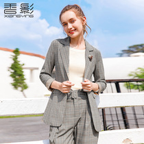 Plaid Coat Female fragrance Shadow 2019 spring and Autumn dress new Inverness style casual small suit slimming thin handsome suit
