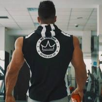 Muscle Fitness Brother marquee men Hooded Sports Horse Clip slimming running training casual sleeveless sportswear summer
