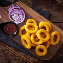 Chicken onion ring frozen sheep scallion ring fried snack frozen semi-finished snack crispy french fries Western restaurant 800g