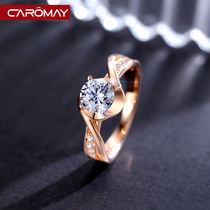 Japanese Light Luxury index finger ring female couple Simple Network red chic joint ring ring in Swarovski zirconium