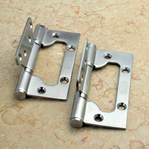 304 brushed stainless steel slotted-in-all thickened son-in-law page wooden door thousand autumn door hinge bearing mute special price
