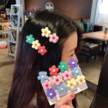 Net red wild duck mouth clip buckle with the same paragraph hairpin candy color clip flower hairpin ins Super cents cute side clip