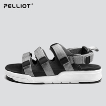 Bursi and outdoor sandals male summer sports beach slippers couple comfortable wear-resistant non-slip casual beach shoes