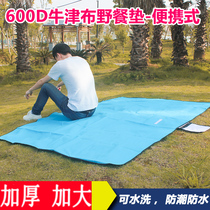 Outdoor large moisture-proof mat tent double camping grass mat thick Oxford cloth picnic mat spring out waterproof special