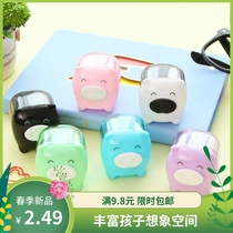 Cute cartoon pig pencil sharpener pencil sharpener small Sketch Sketch brush brush special pencil sharpener