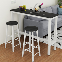 Home High Table simple small rectangular long table against the wall narrow table bar high leg table Milk tea Shop Stool