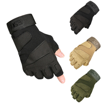 Special forces tactical gloves outdoor mountaineering riding sports gloves male summer army fan fighting Black Hawk half finger gloves